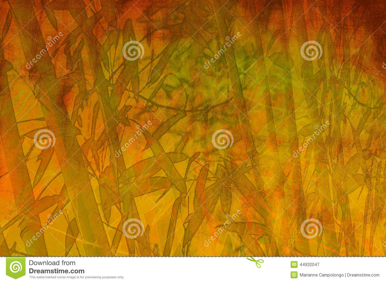 Bamboo Zen Abstract Background Stock Illustration Image
