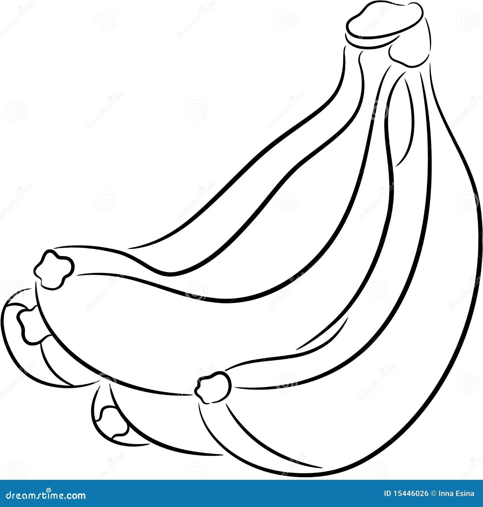 Banaan Vector Illustratie Illustratie Bestaande Uit