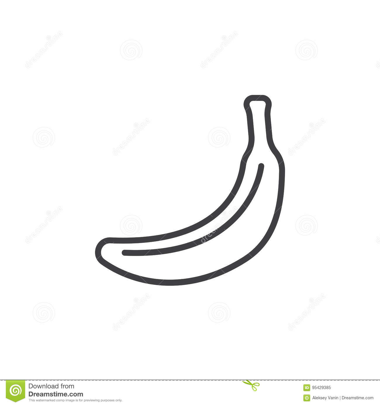 Banana Line Icon Outline Vector Sign Linear Pictogram