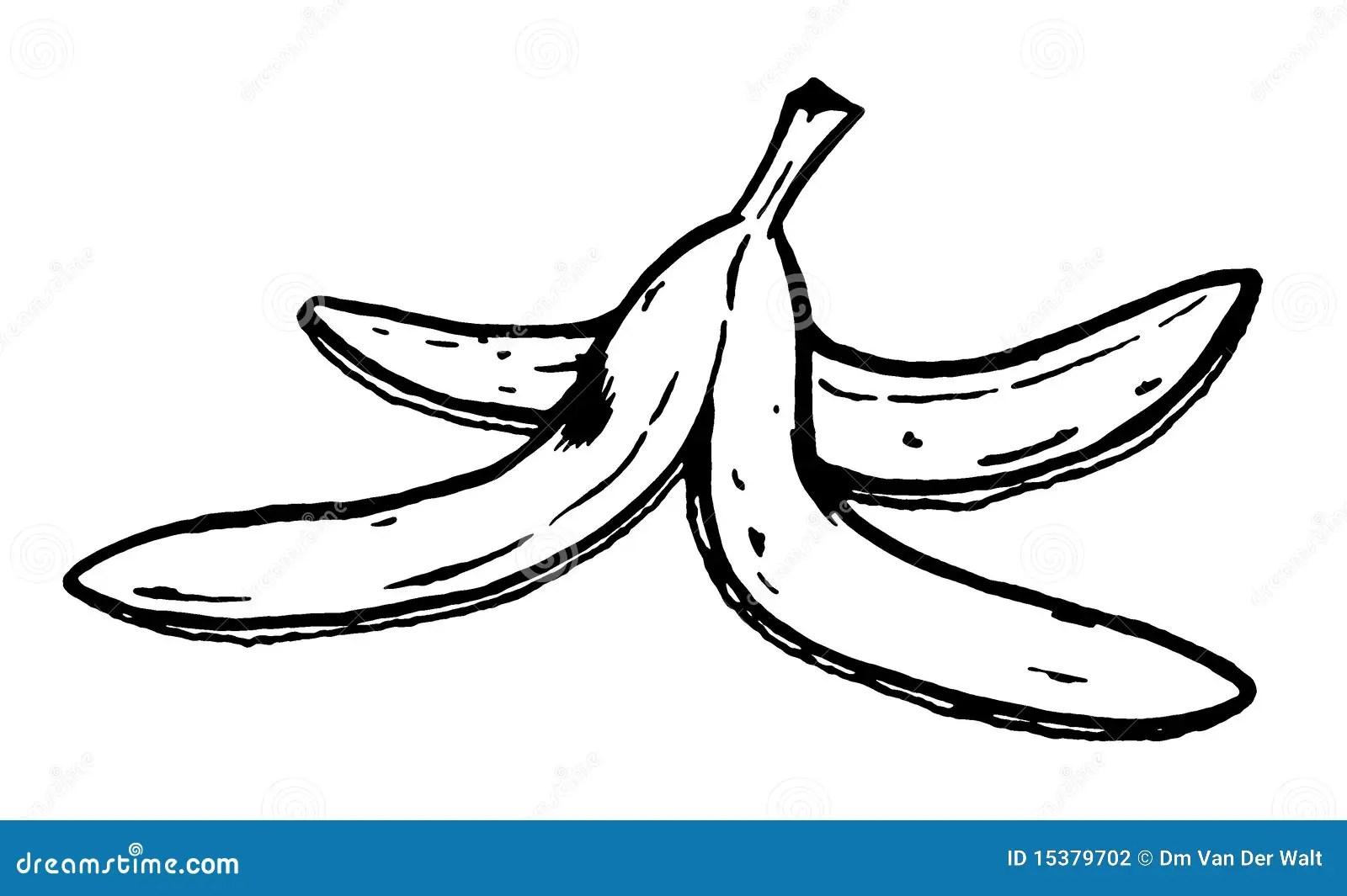 banana skin colouring pages
