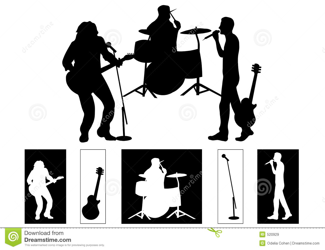 Band Stock Illustration Illustration Of Drummer