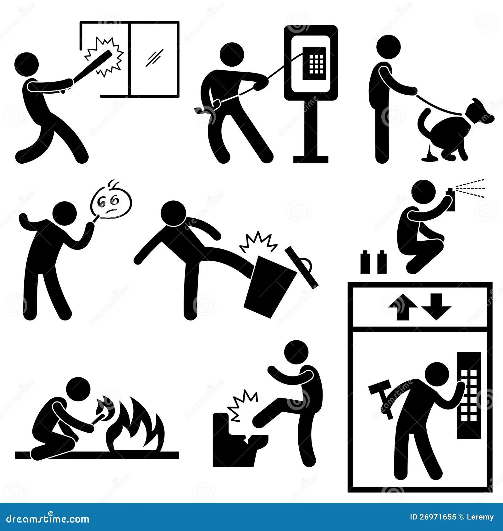 Bandit De Violence De Vandalisme De Gens Illustration De