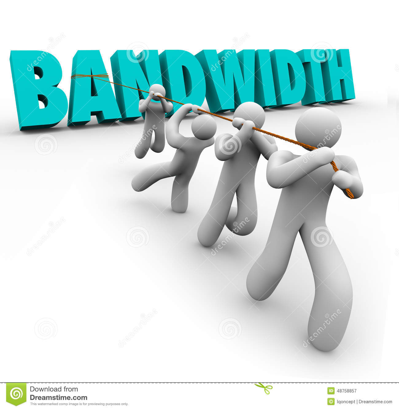 Bandwidth Word Pulled Team Resources Limited Ability Time Stock Illustration