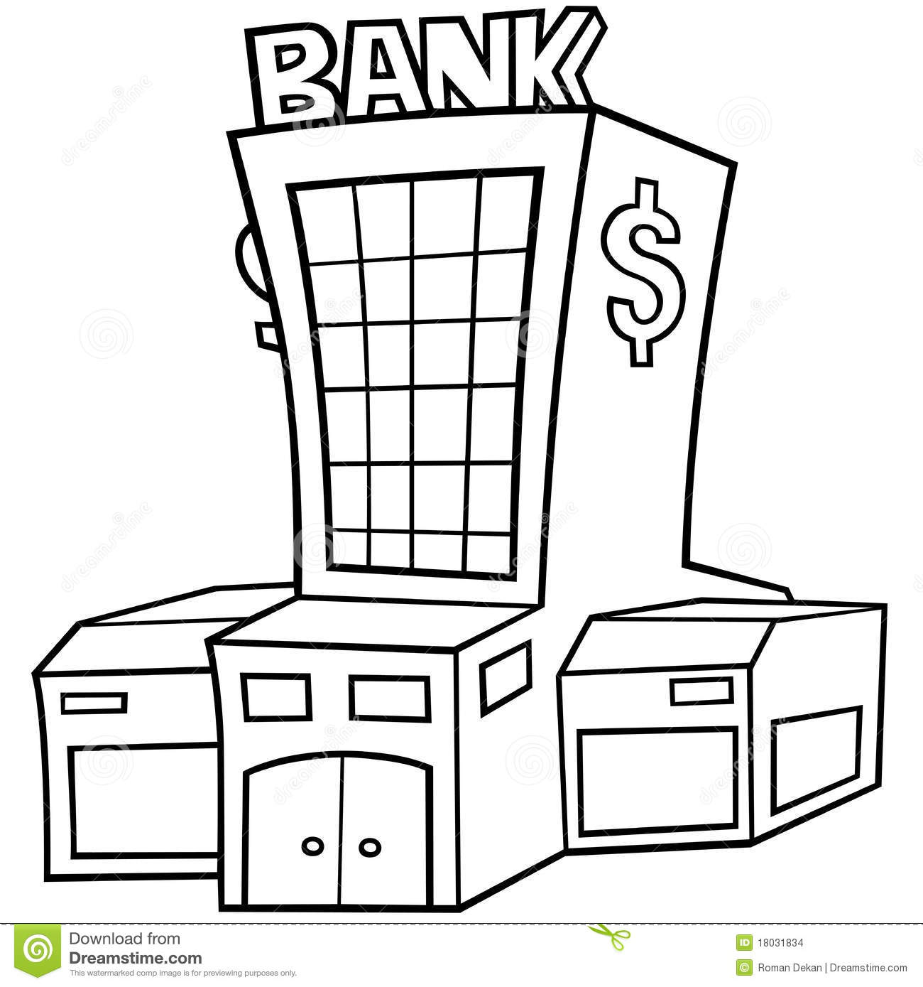 Bank Stock Vector Illustration Of Finance Architecture
