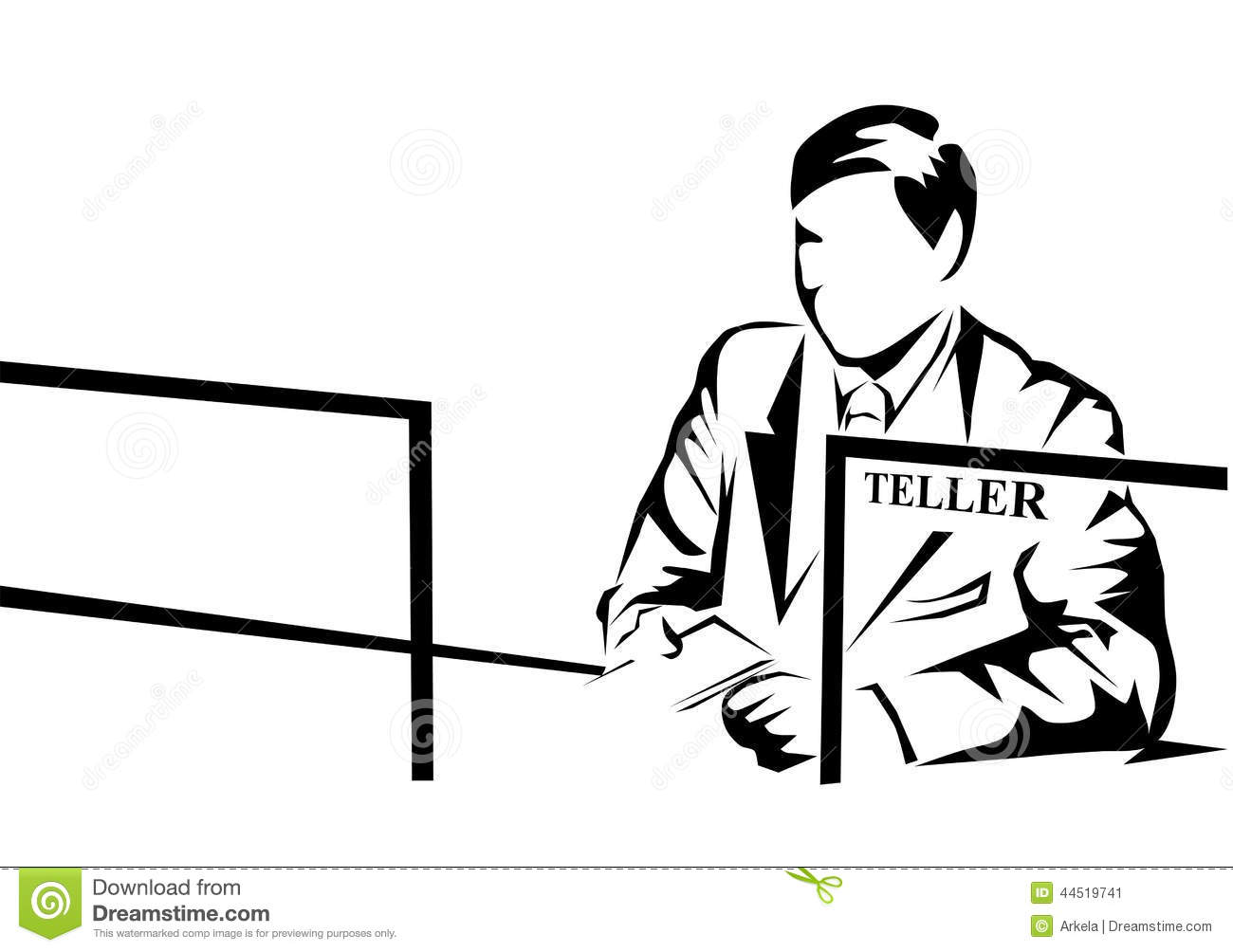 Bank Teller Stock Vector