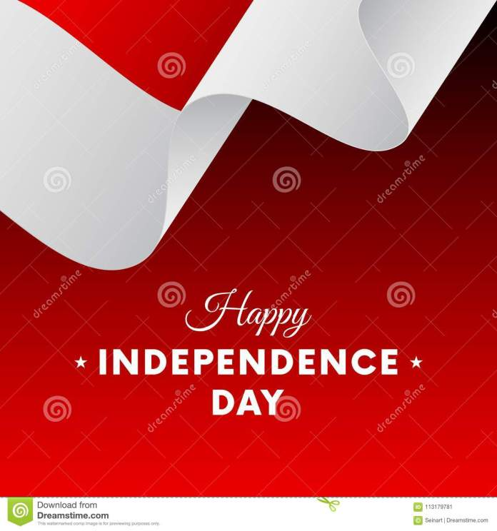 Banner Or Poster Of Indonesia Independence Day Celebration Waving Flag Vector Illustration Stock Illustration Illustration Of Season Patriotic 113179781