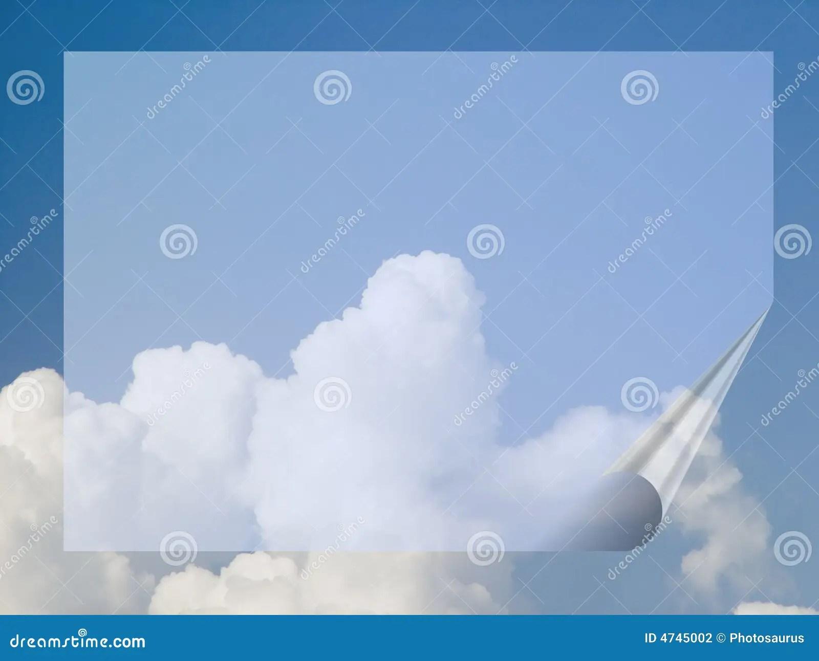 Banner In The Sky Stock Illustration Illustration Of