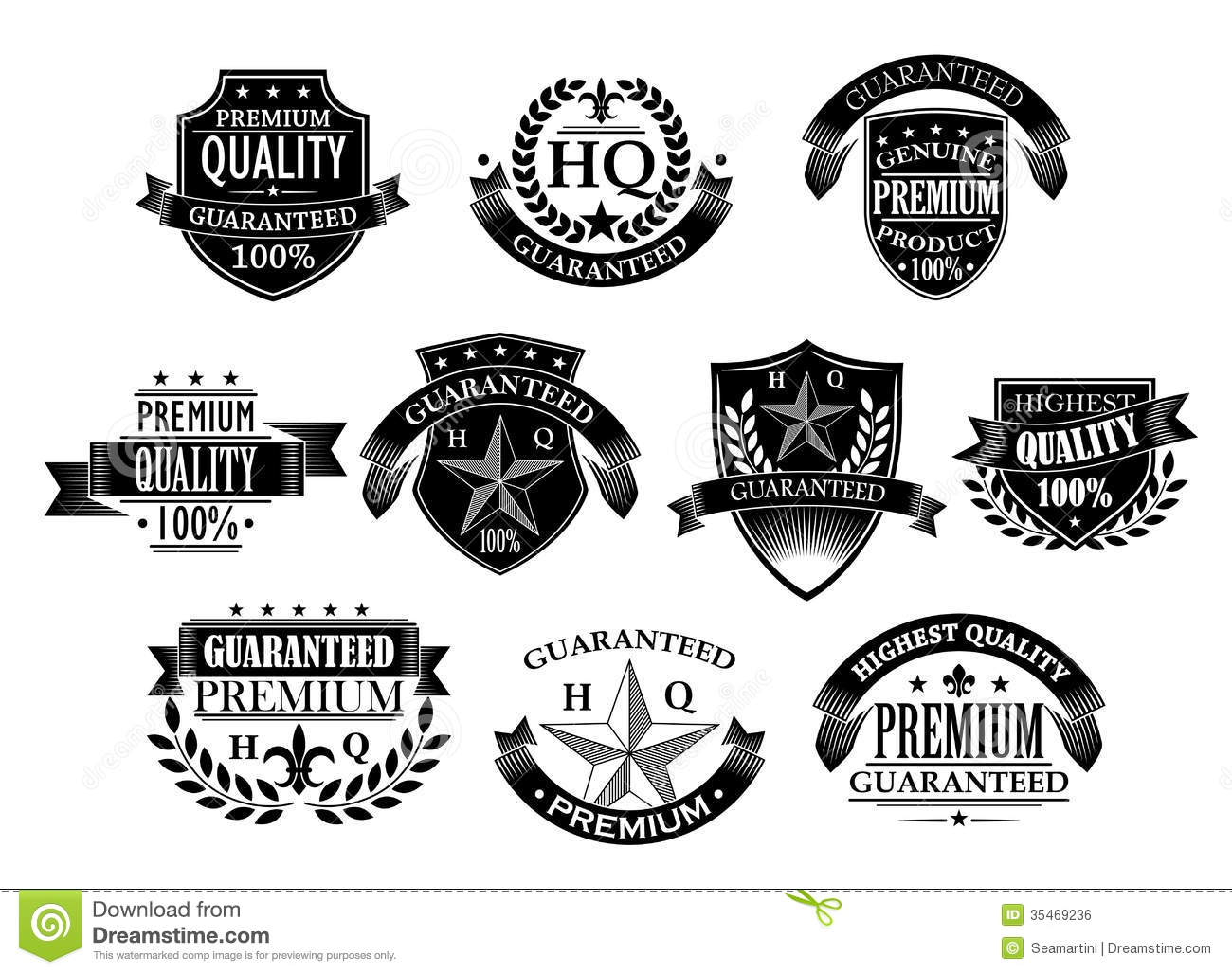 Banners And Badges For Retail Stock Vector