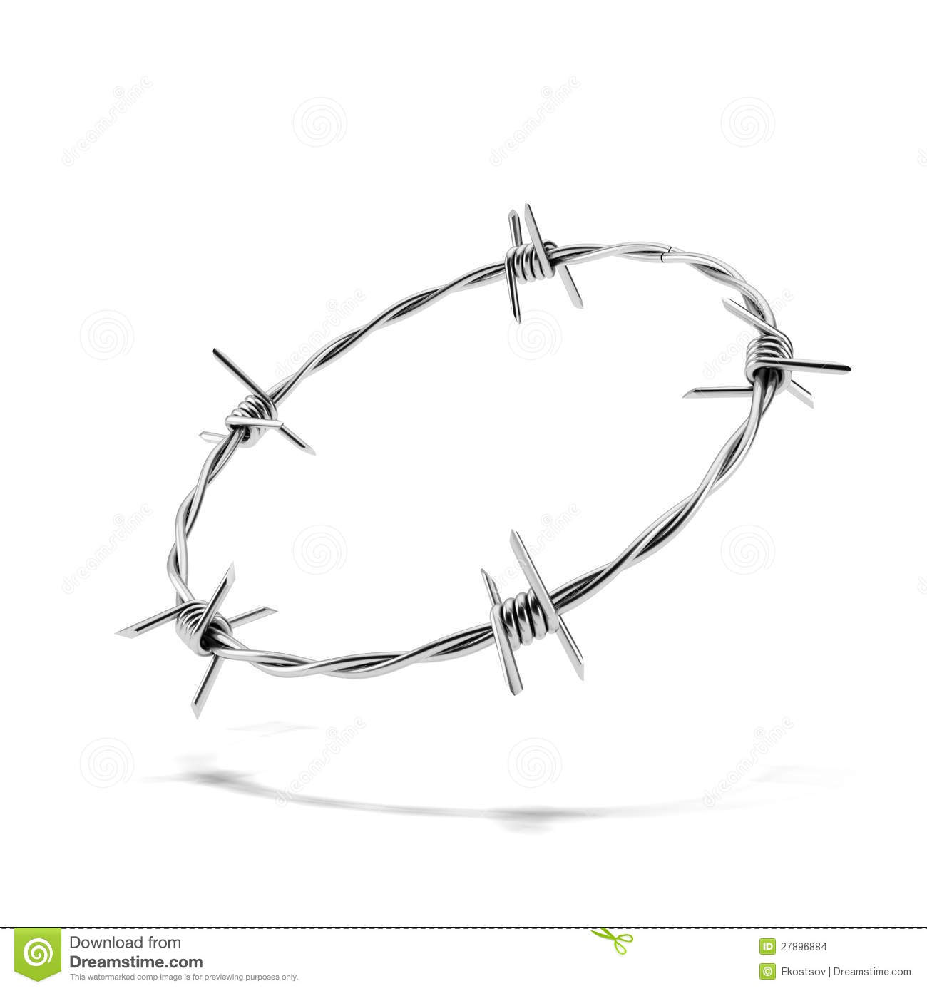 Barbed Wire Wreath Stock Images