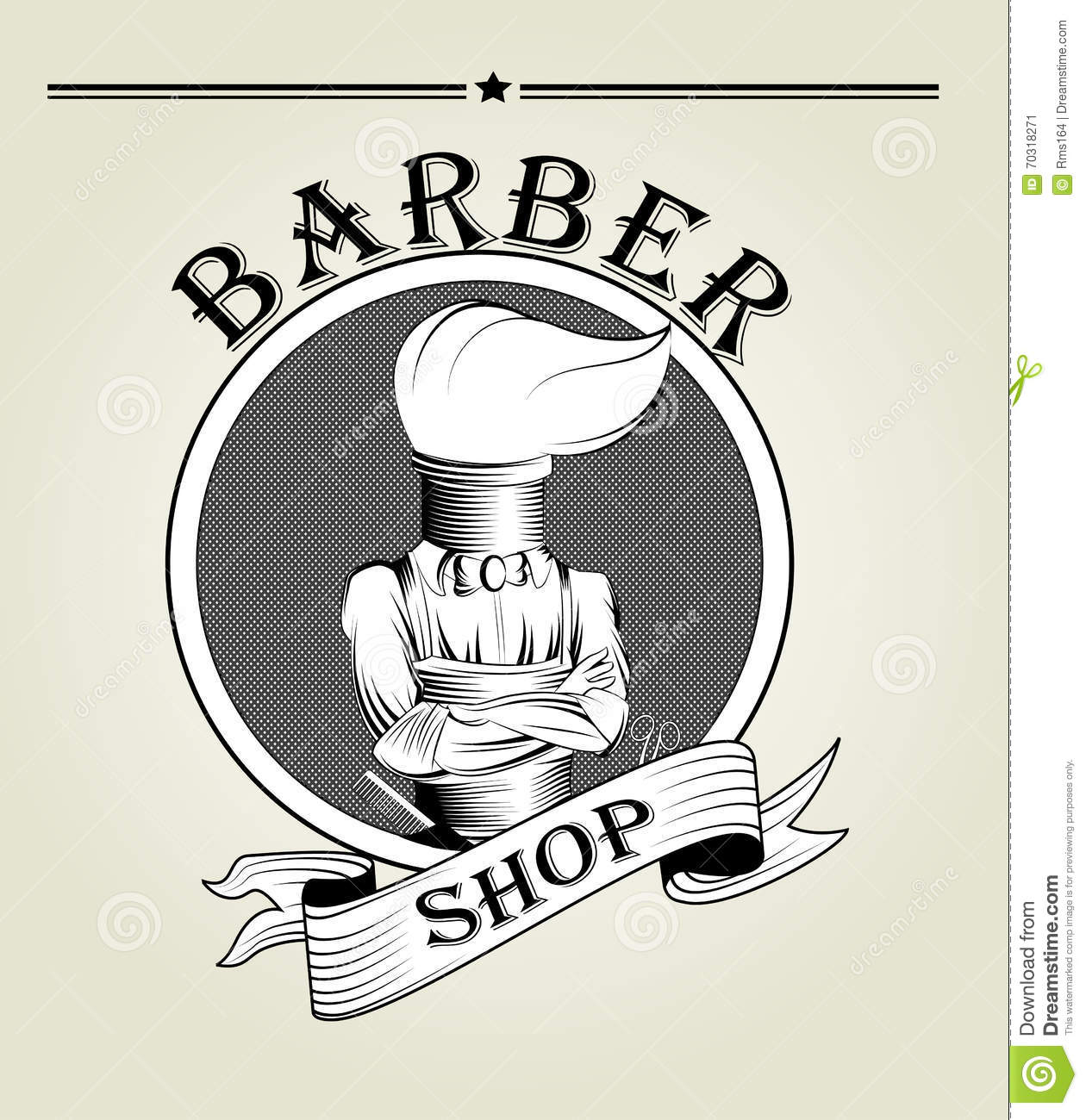 Barber Logo Vector Stock Vector Image Of Hipster Hair