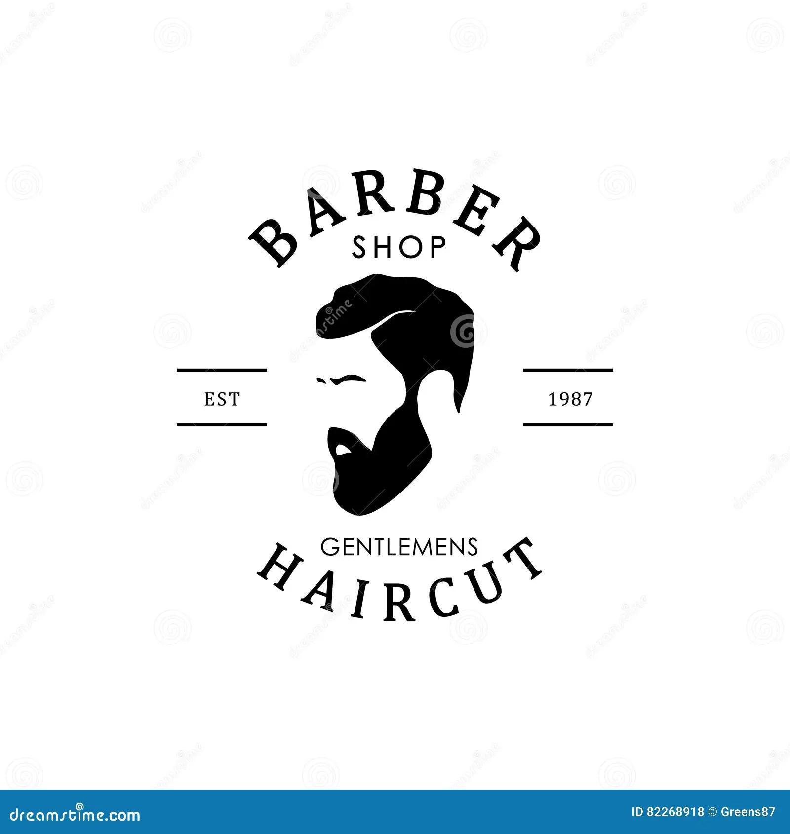 Barber Shop Logo Stock Vector Image Of Label Hair