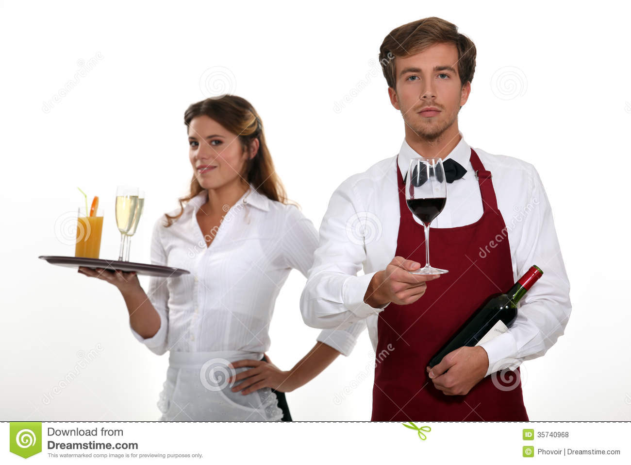 Barman And Barmaid Stock Photo Image Of Recommendations