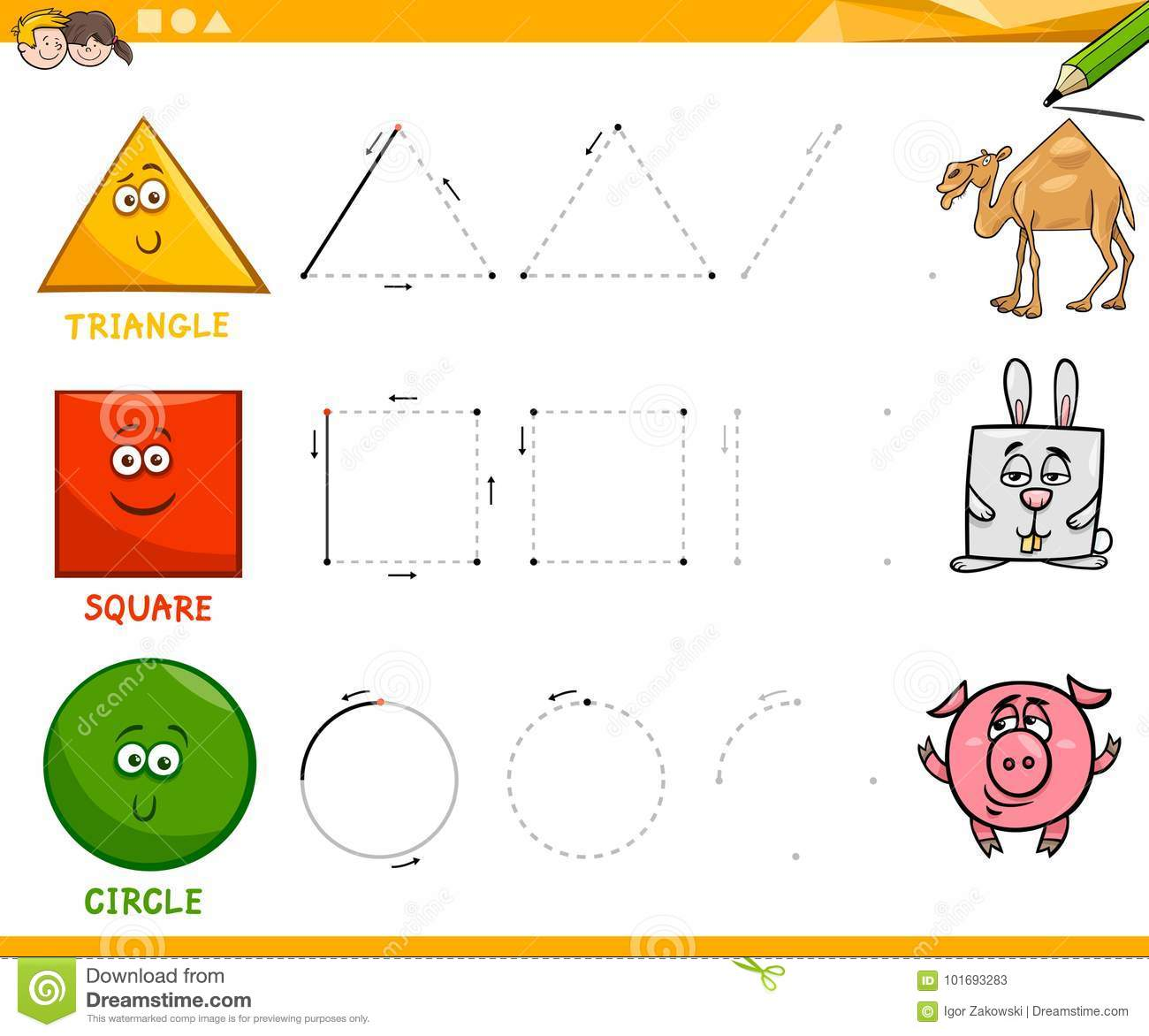 Geometry Kindergarten Worksheet