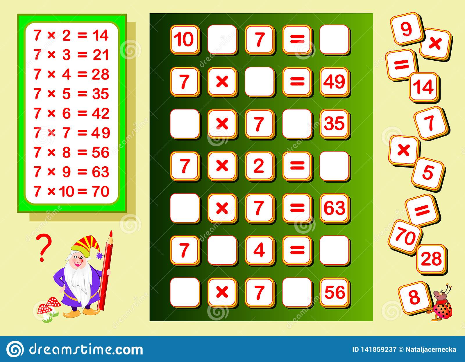 Multiplication Table By 7 For Kids Find Places For