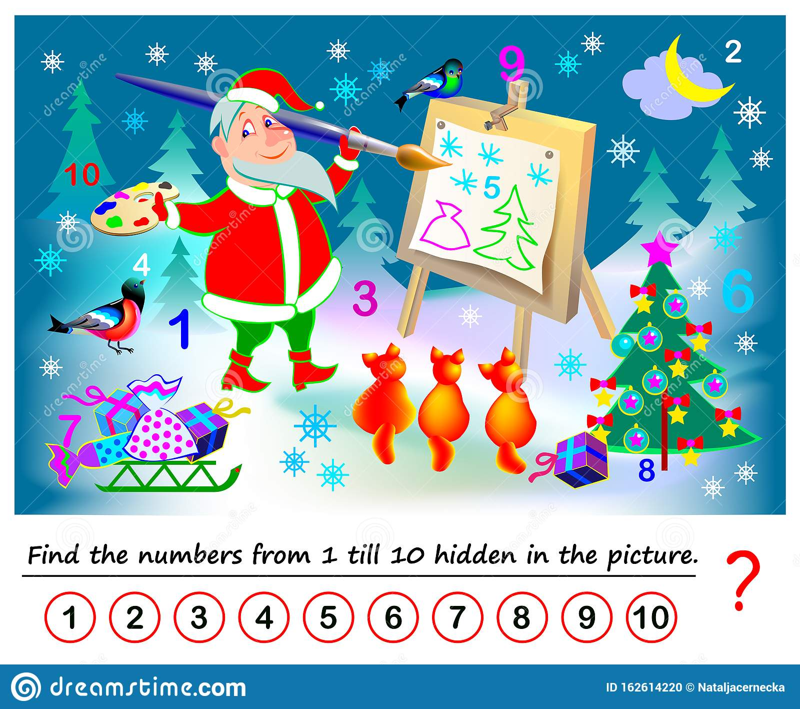 Logical Puzzle Game For Kids Math Exercise For Little
