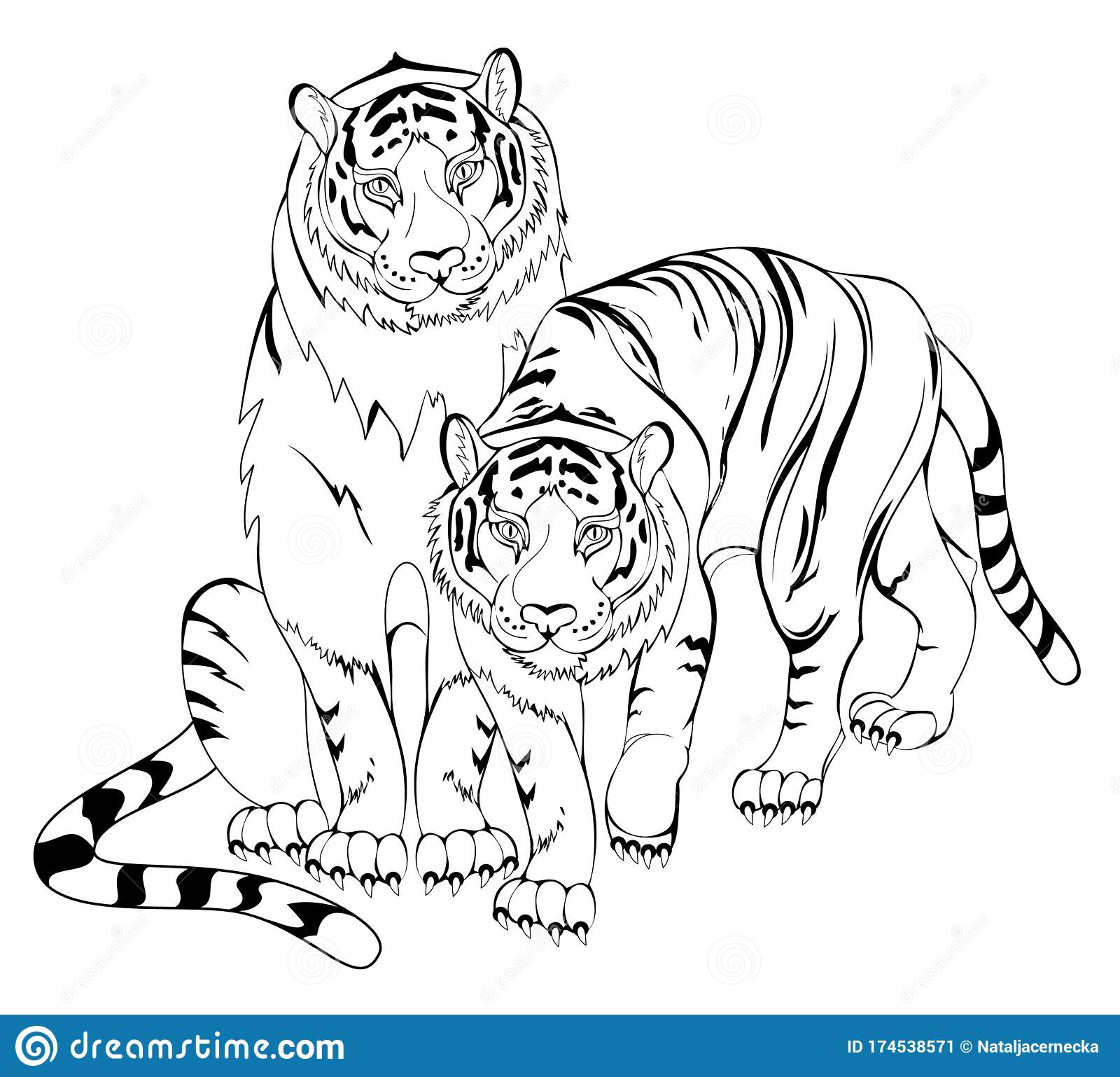 Black And White Page For Kids Coloring Book Illustration