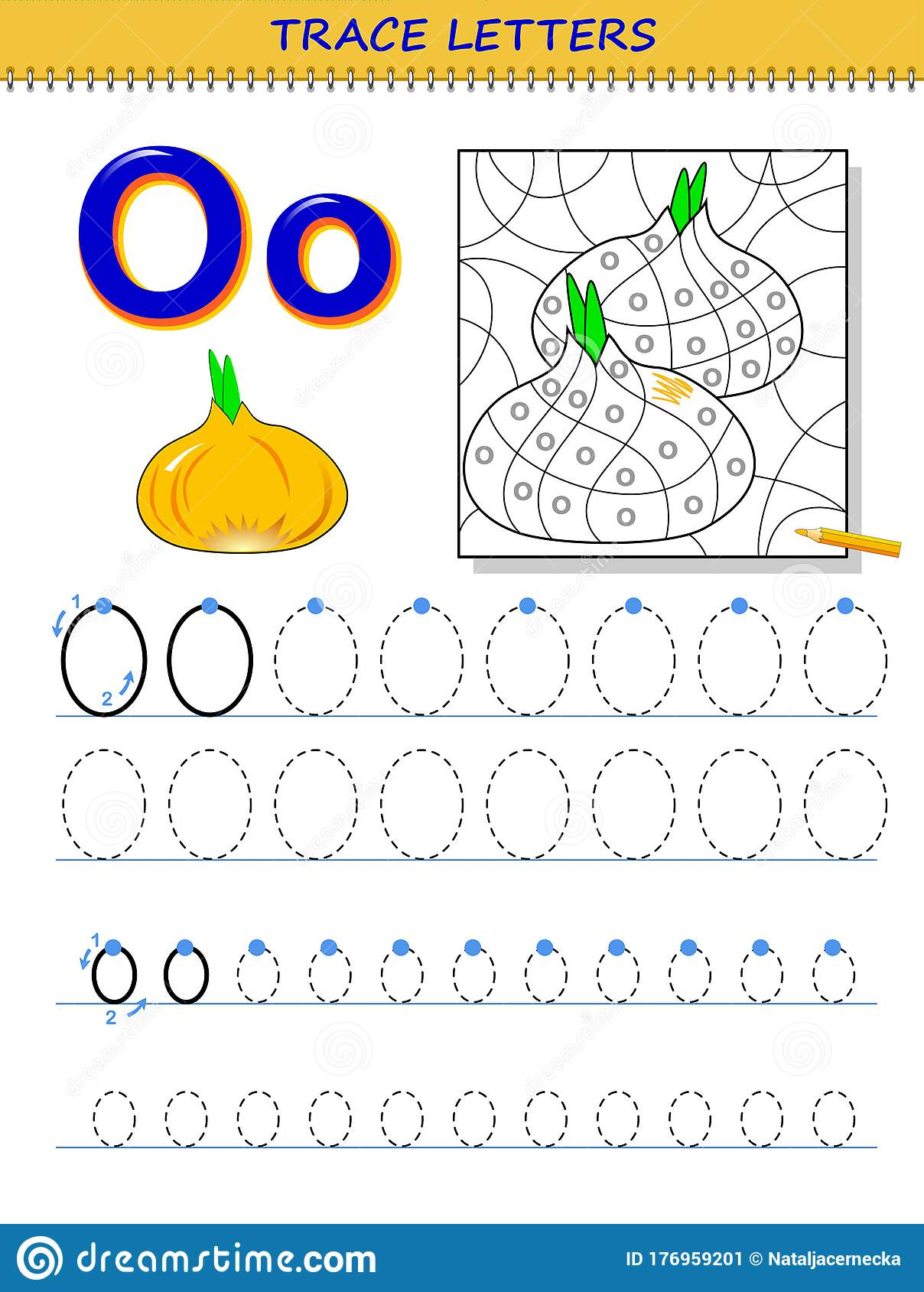 Tracing Letter O For Study Alphabet Printable Worksheet