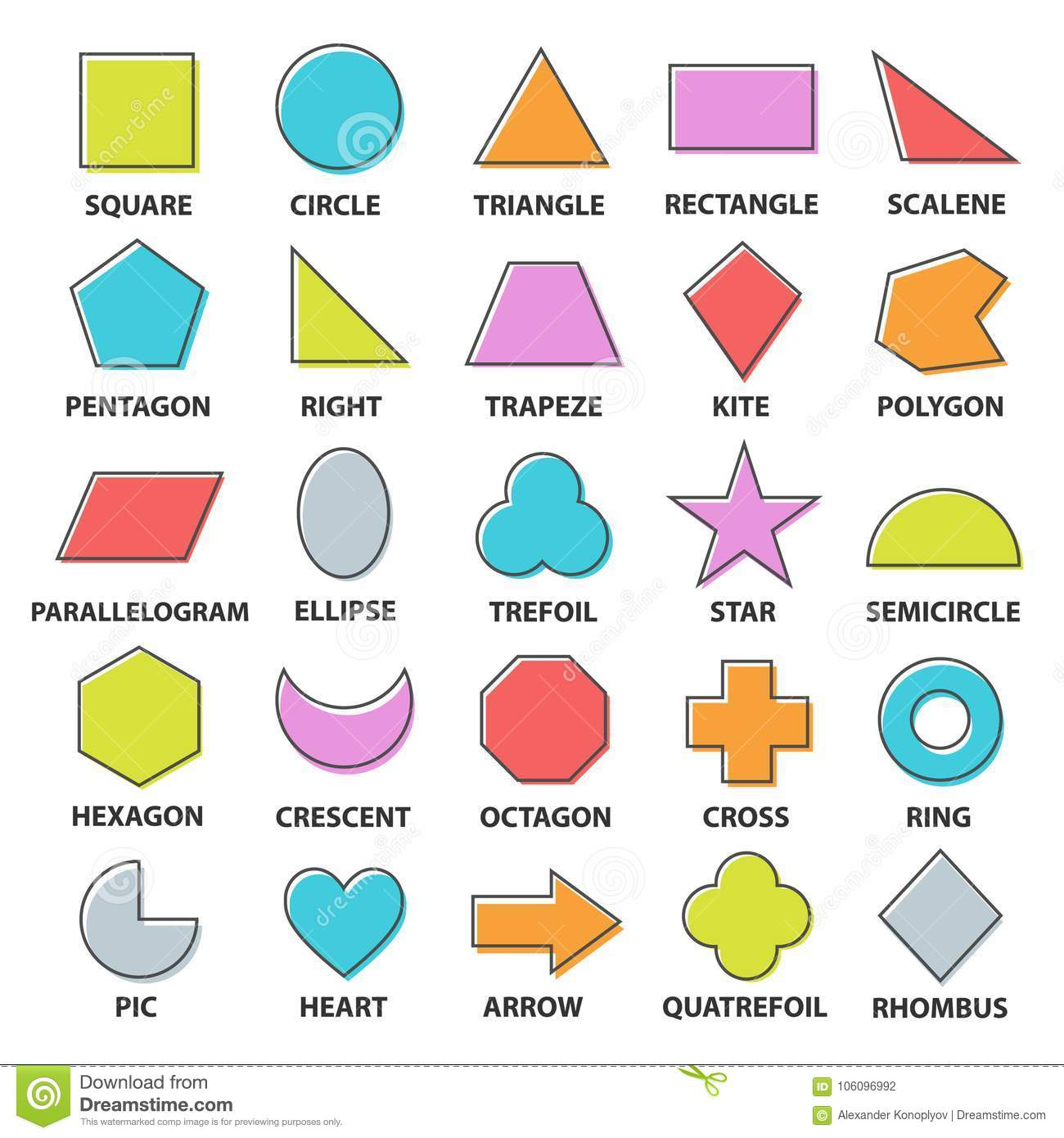 Shapes Worksheet Clipart Black And White