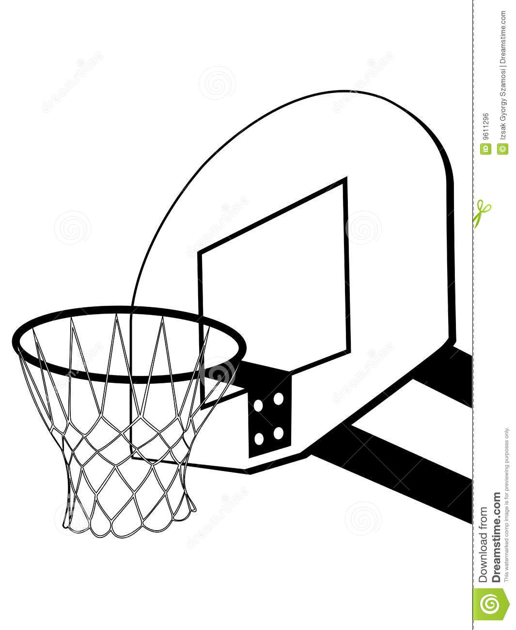 Basketball Backboard Silhouette Stock Vector