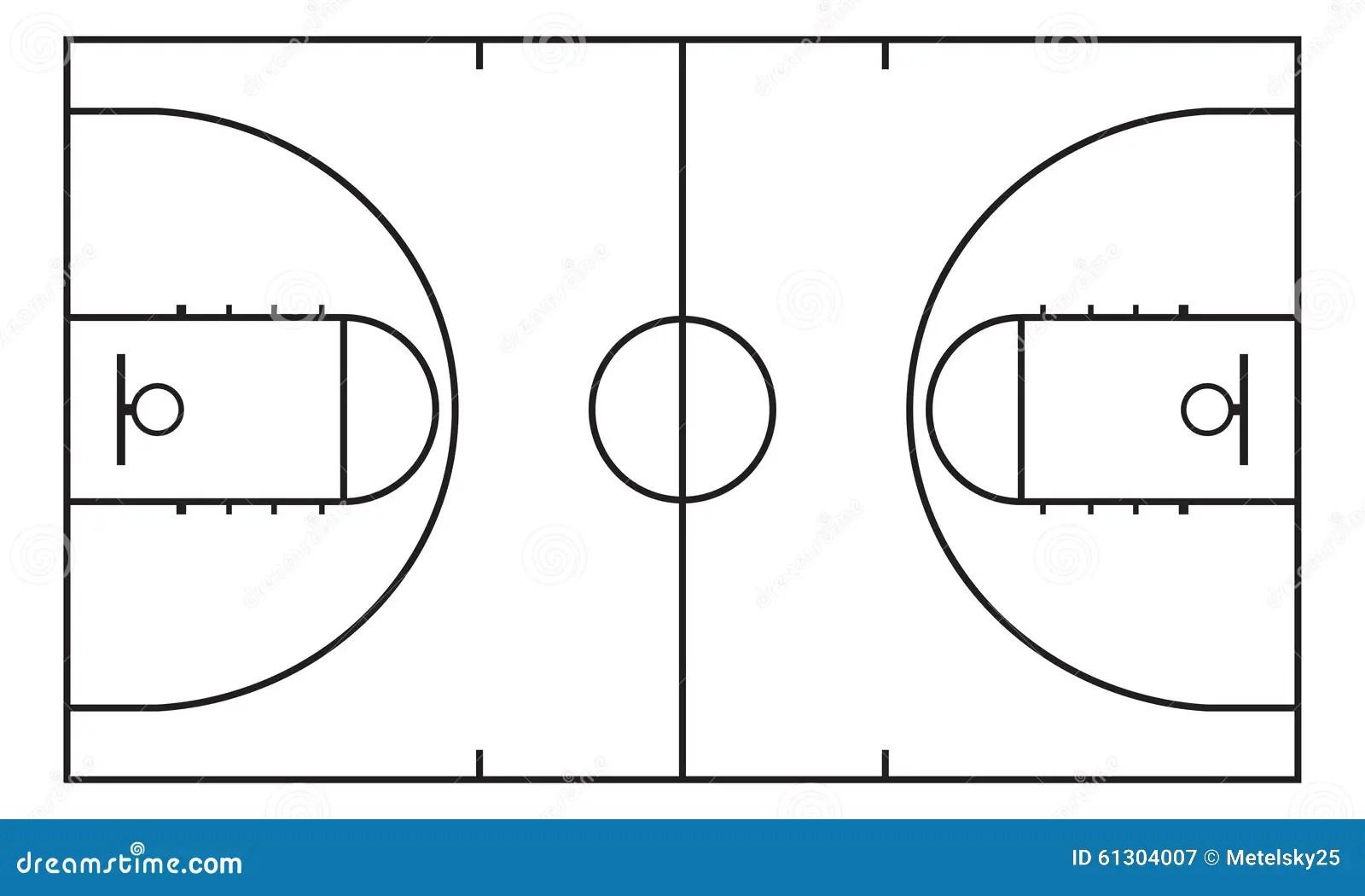 basketball court drawing