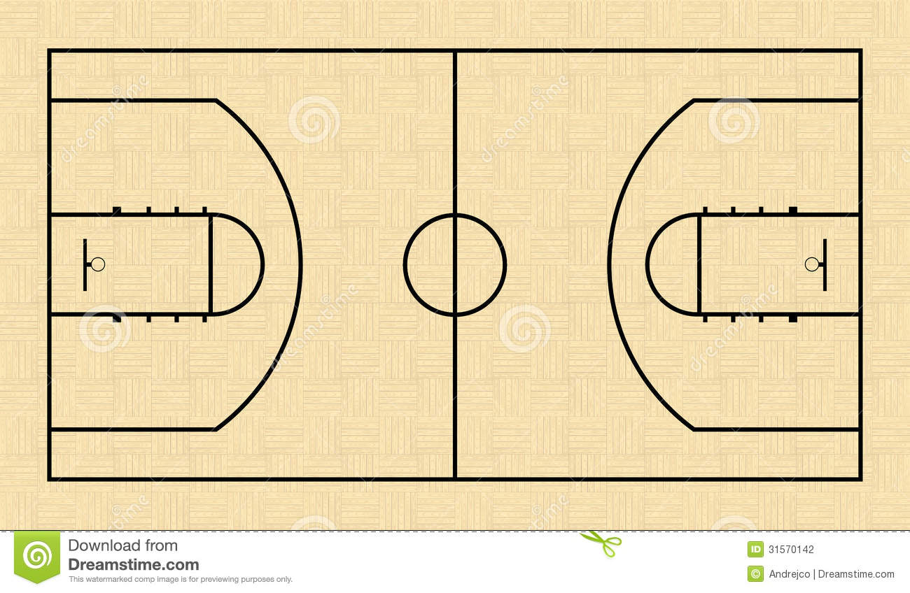 Basketball Court Stock Vector. Image Of Panel, Graphic