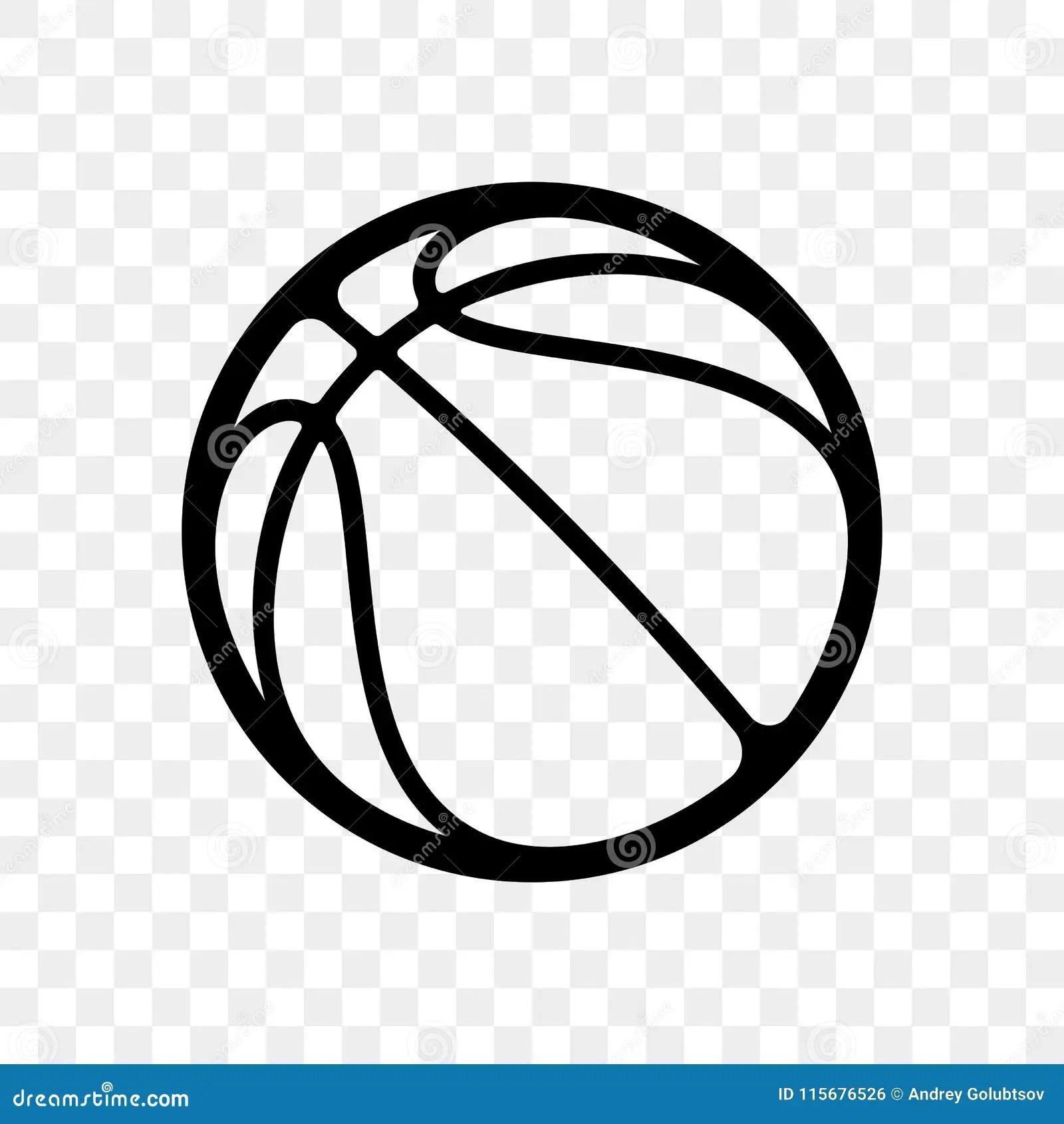Basketball Ball Logo Vector Icon Isolated Stock Vector