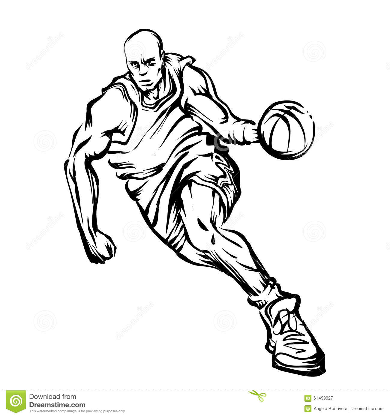 Basketball Player Stock Illustration