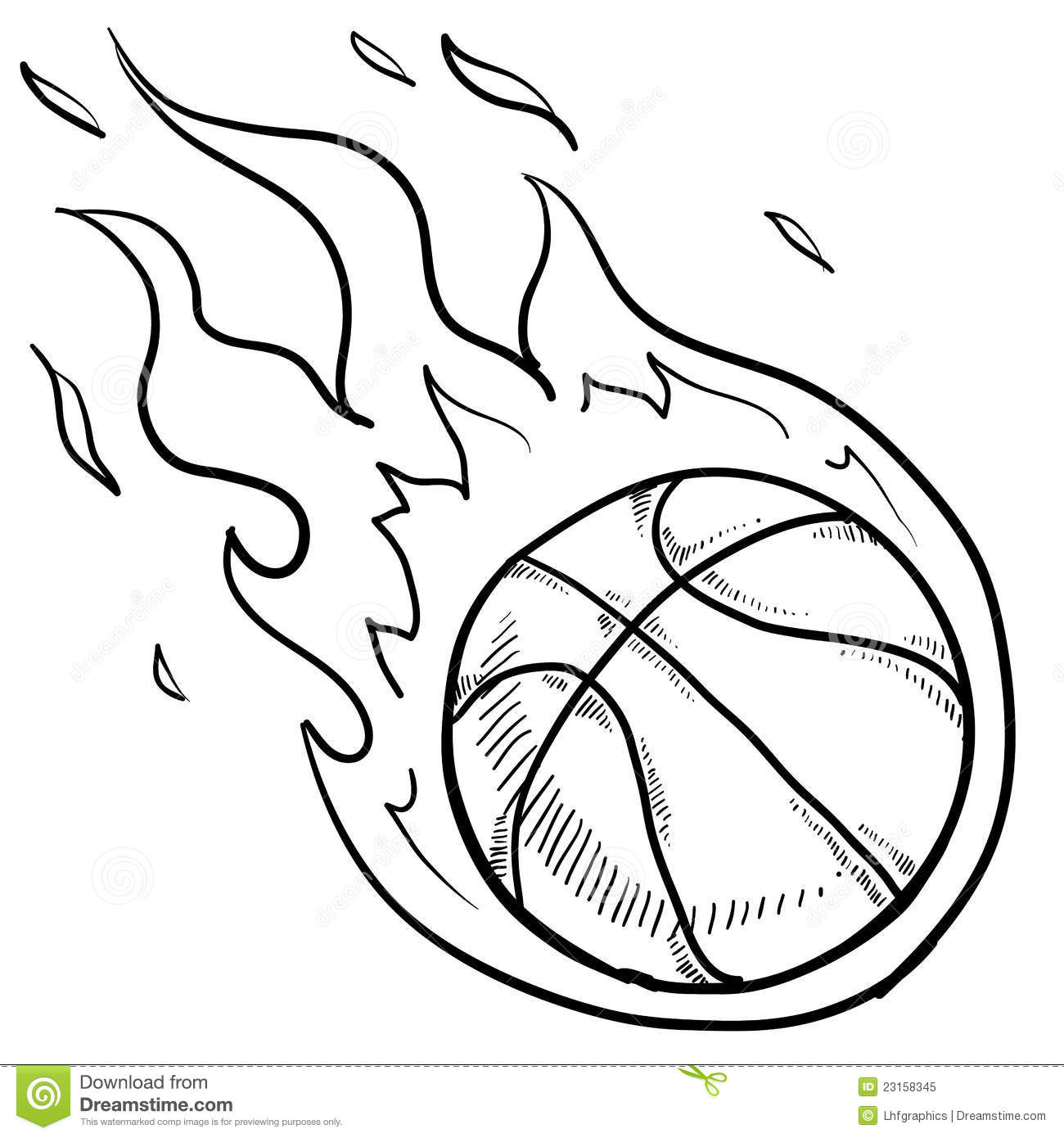 Basketball Playoffs Sketch Stock Vector Illustration Of