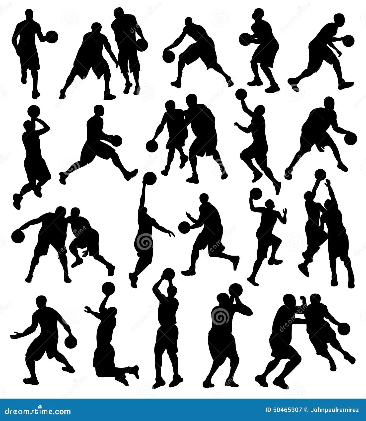 Basketball Sport Athlete Silhouette Stock Vector