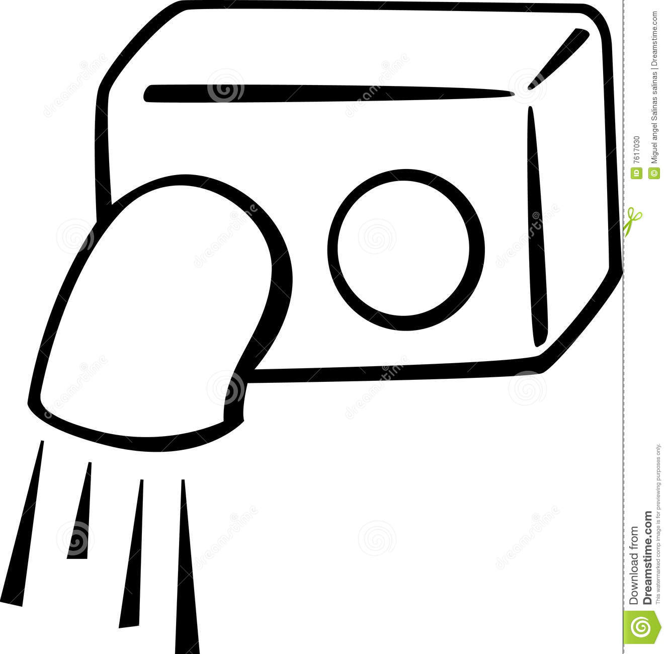 Bathroom Air Blower Vector Illustration Stock Vector