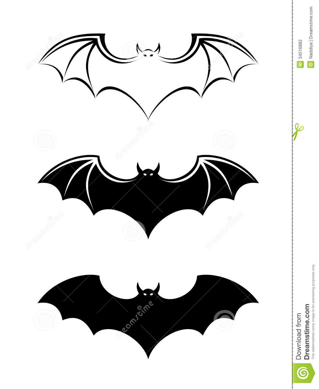Bats Black Silhouettes Stock Vector Illustration Of