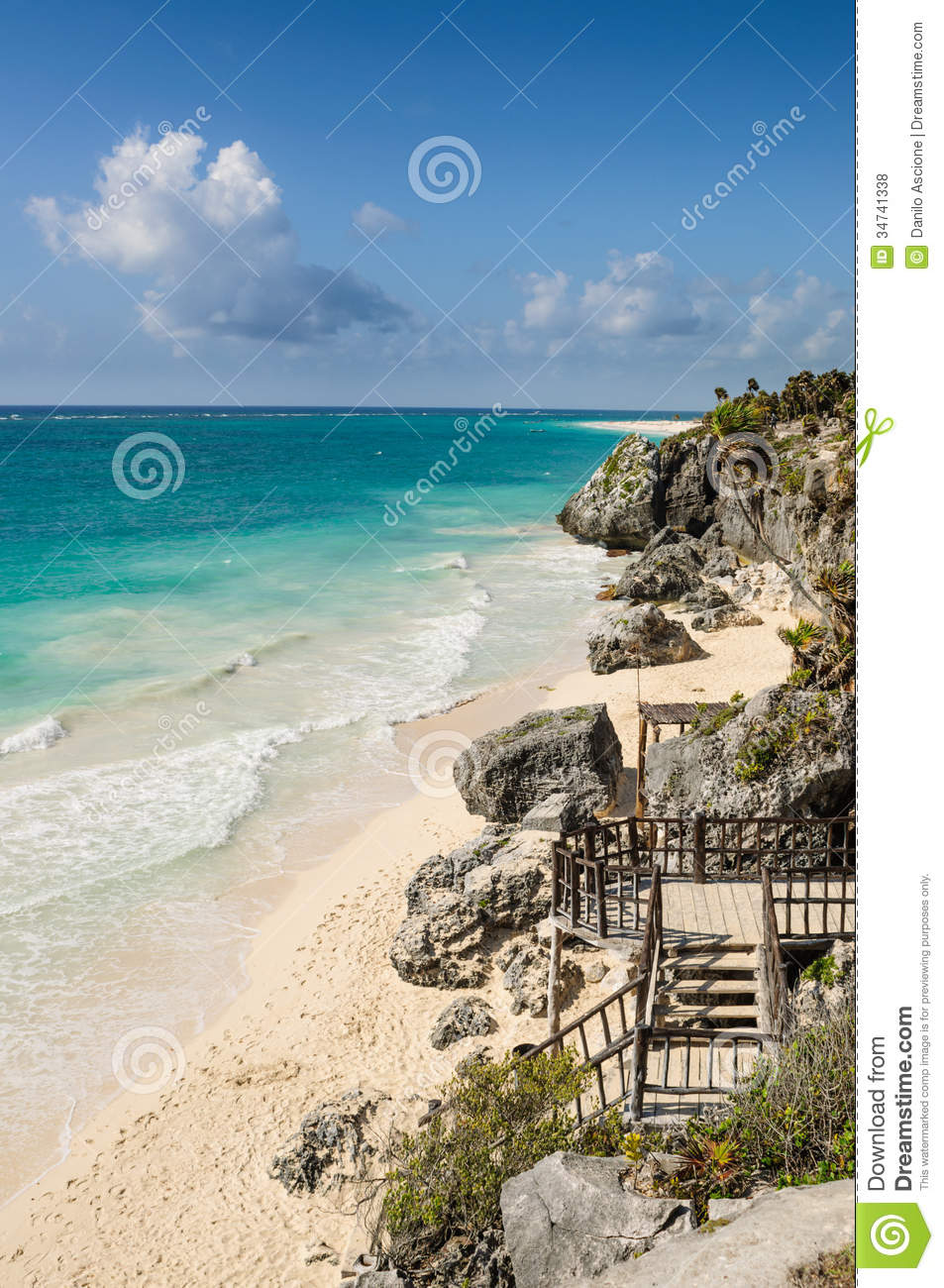 Beach In Tulum Mexico Stock Photo Image Of Riviera