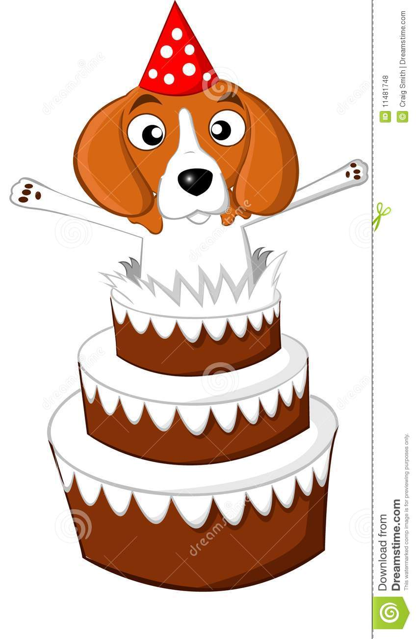 Beagle Birthday Cake Royalty Free Stock Photos Image