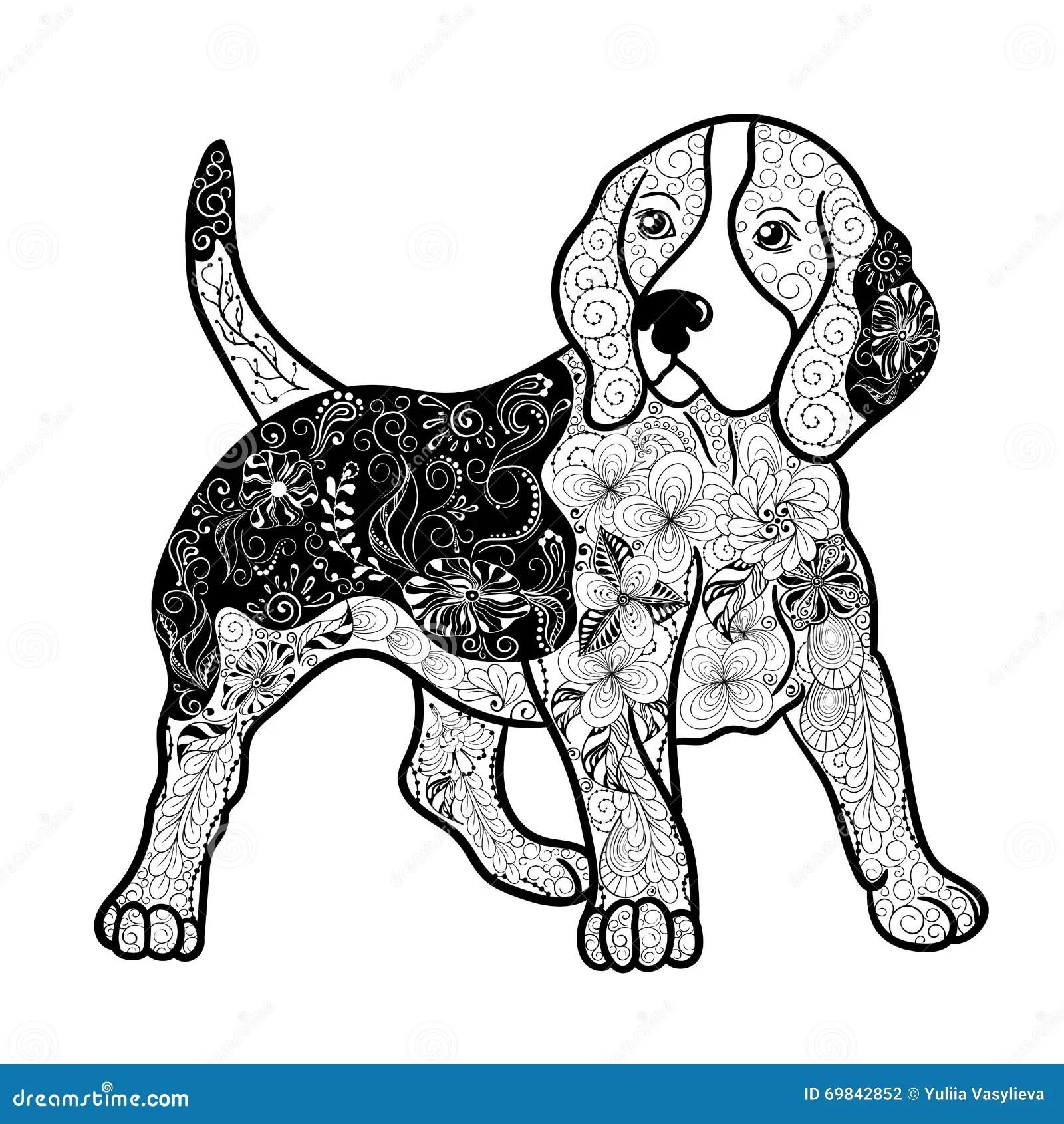 Beagle Dog Doodle Stock Vector