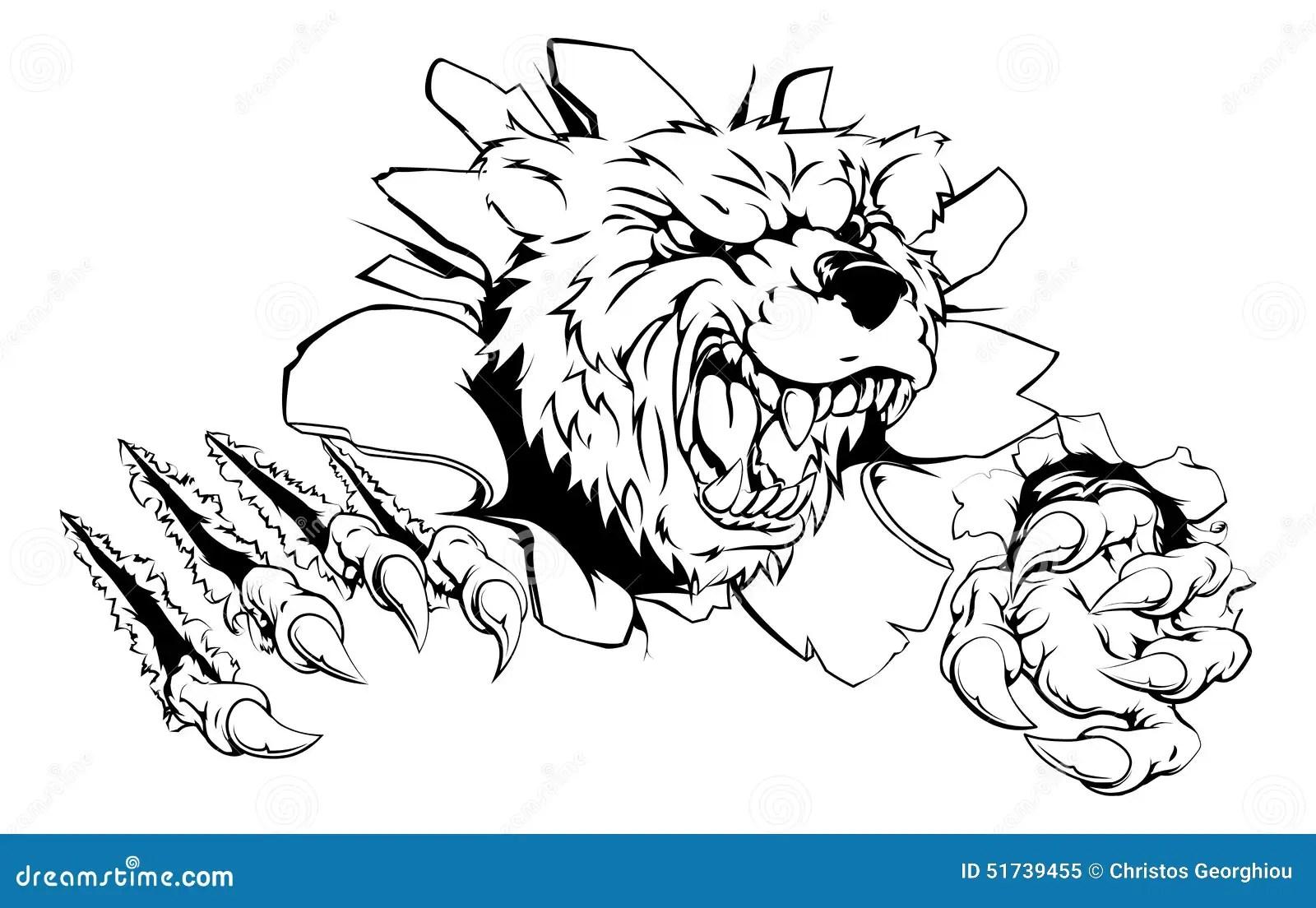 Bear Claw Breakthrough Stock Vector Image Of Clip
