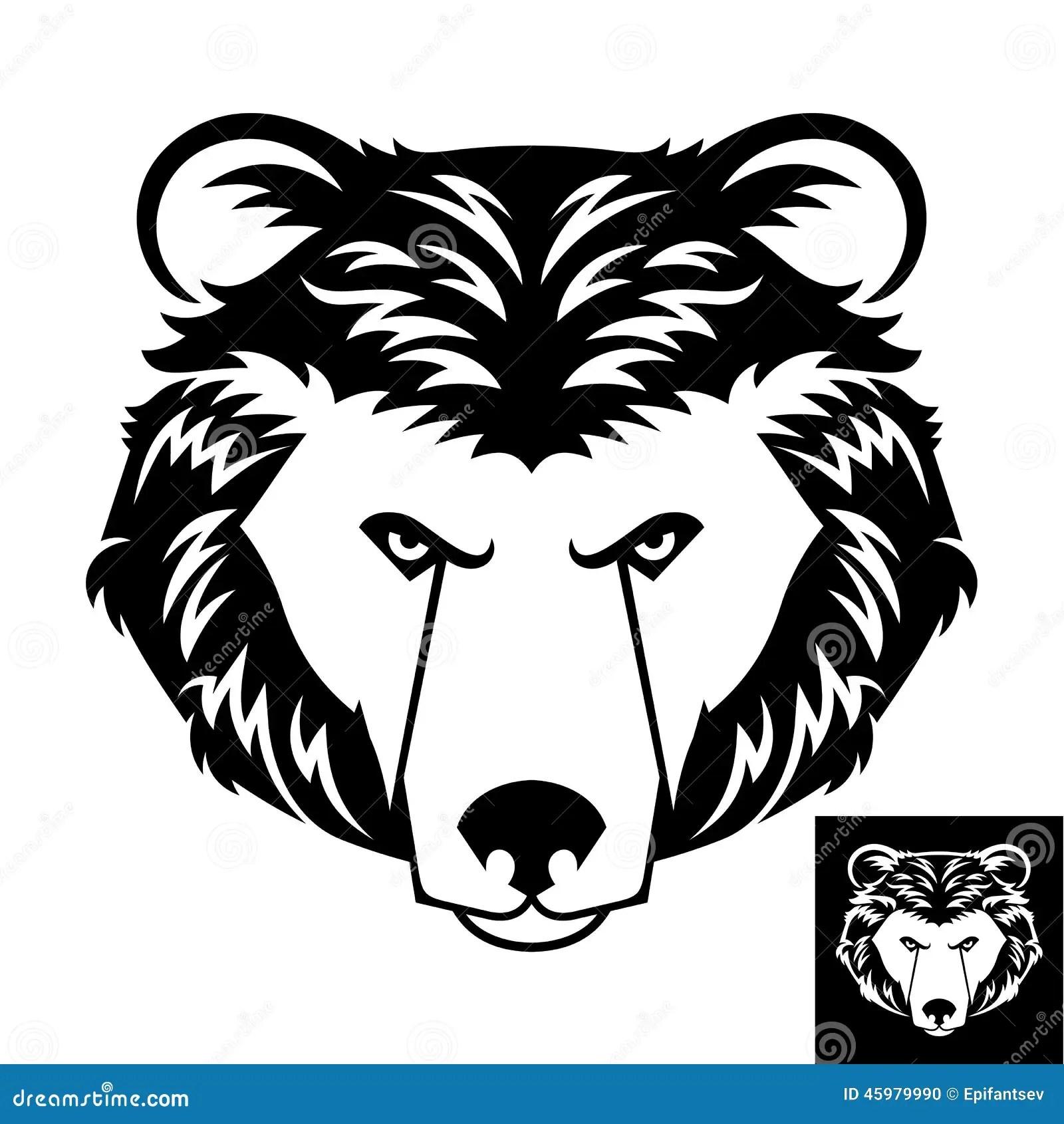 Bear Head Logo Or Icon Stock Vector