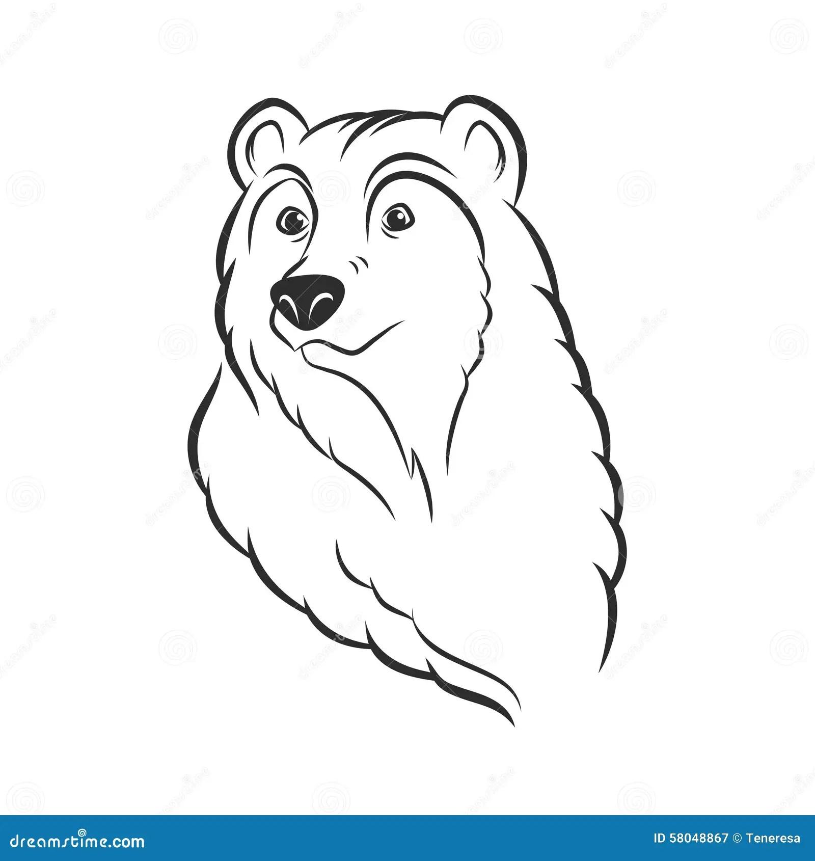 Bear Head Logo Template Mascot Emblem Stock Vector