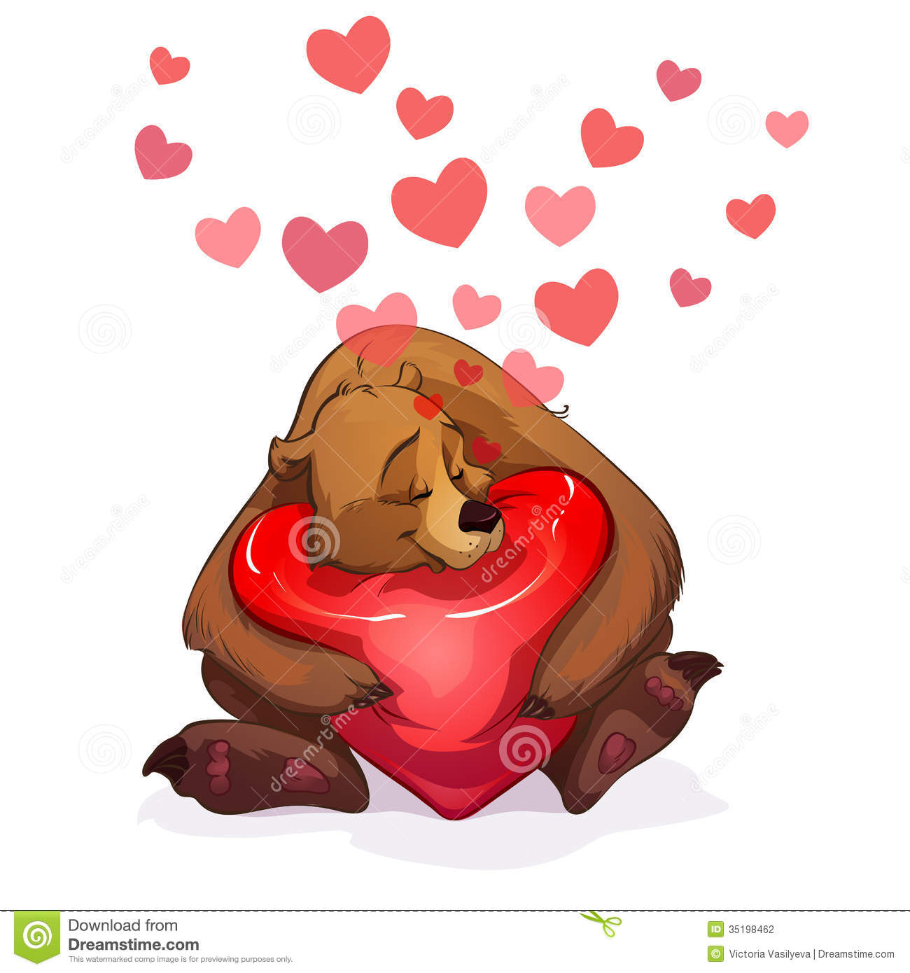 Bear And Heart Stock Vector Illustration Of Cheerful
