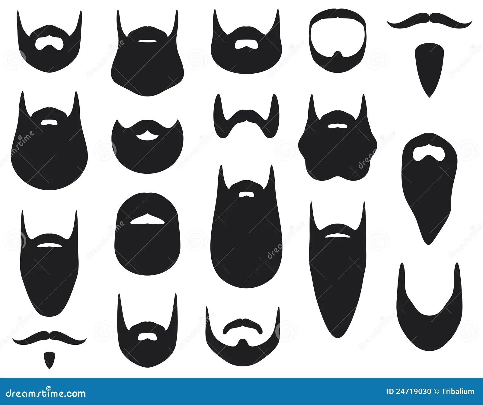Beard Stock Vector Image Of Black Silhouette Costume