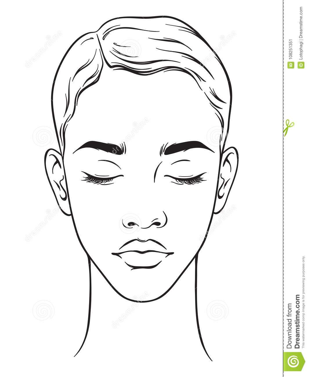 Beautiful African American Woman With Short Haircut And