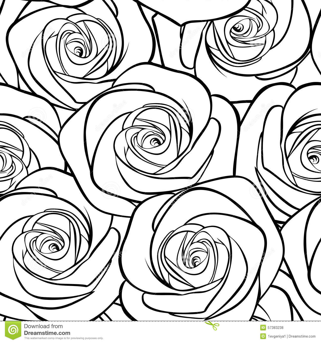 Beautiful Black And White Seamless Pattern In Roses With