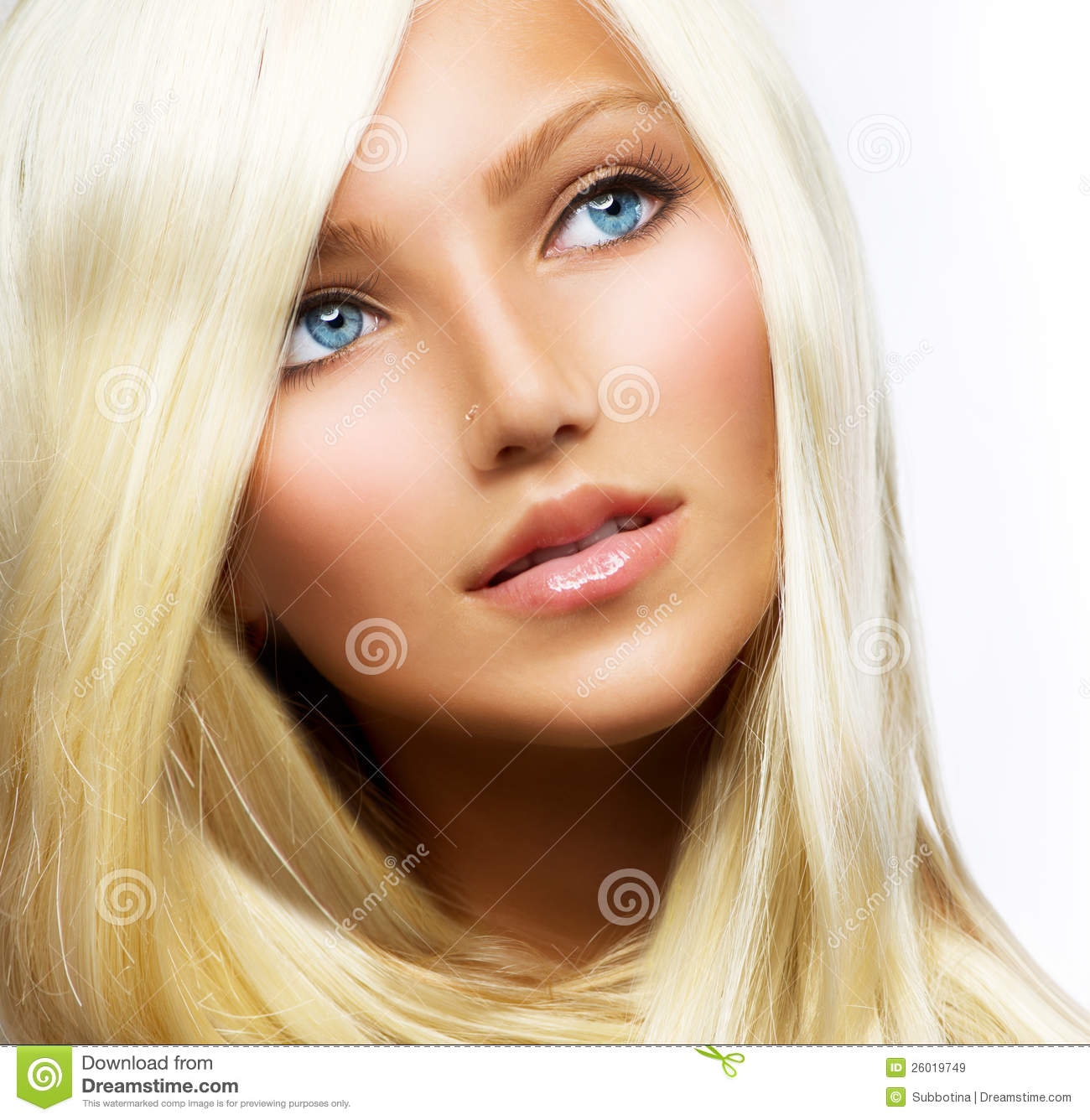 Beautiful Blond Girl Stock Image Image Of Hairstyle