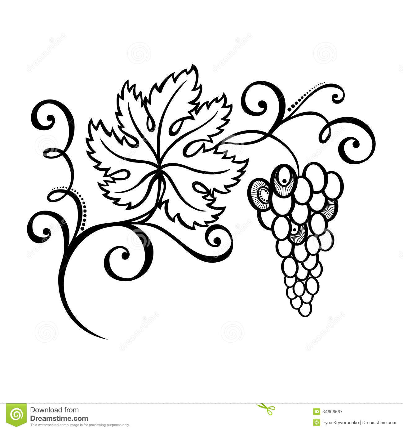 Beautiful Branch Of G S Stock Vector Illustration Of