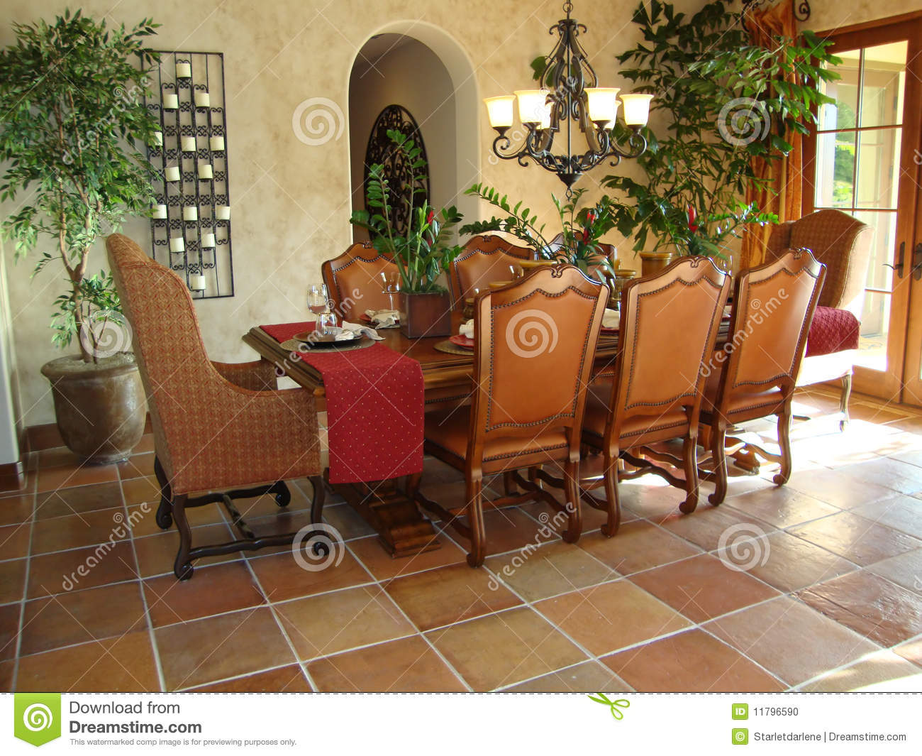Beautiful Dining Room Stock Photo Image Of Dining Glass