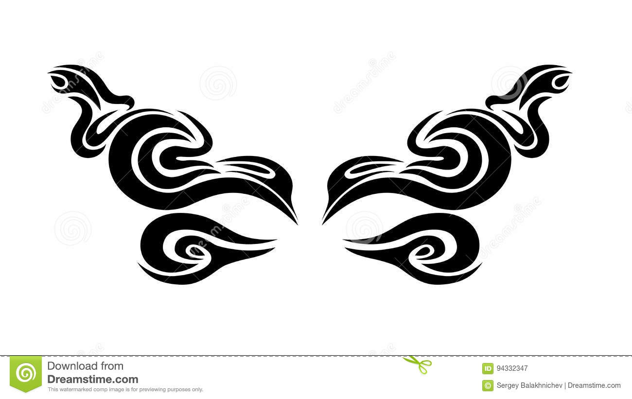 Mysterious Pattern With Eyes On A Black Background Vector