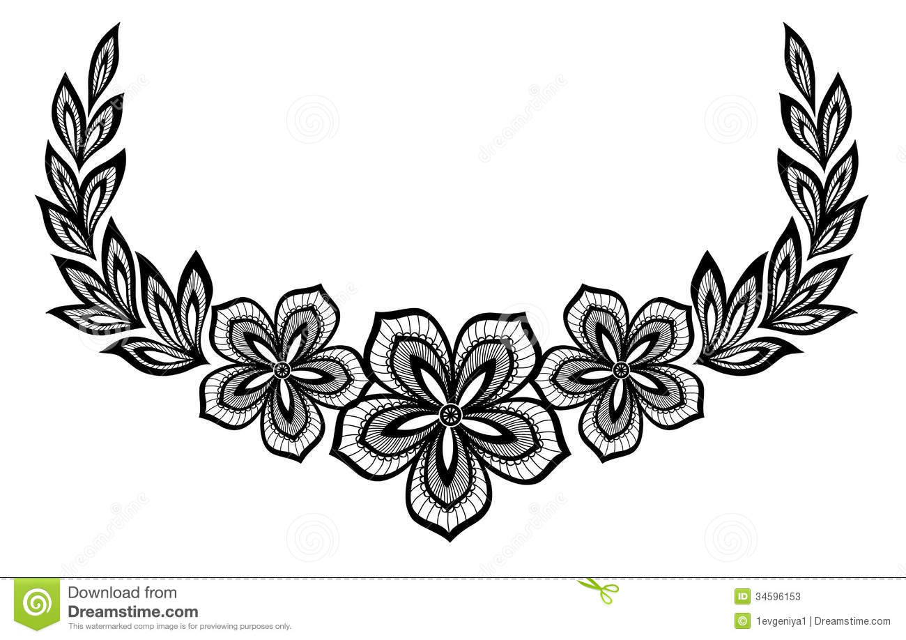 Beautiful Floral Pattern A Design Element In The Stock