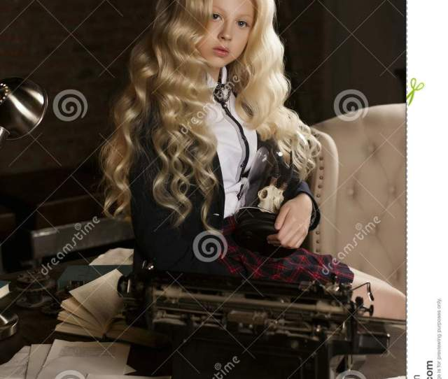 Beautiful Long Haired Curly Blonde Schoolgirl Tiredly Learns Hom