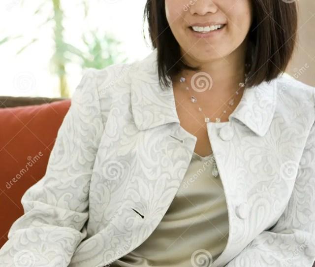 Beautiful Mature Confident Asian Woman Smiling