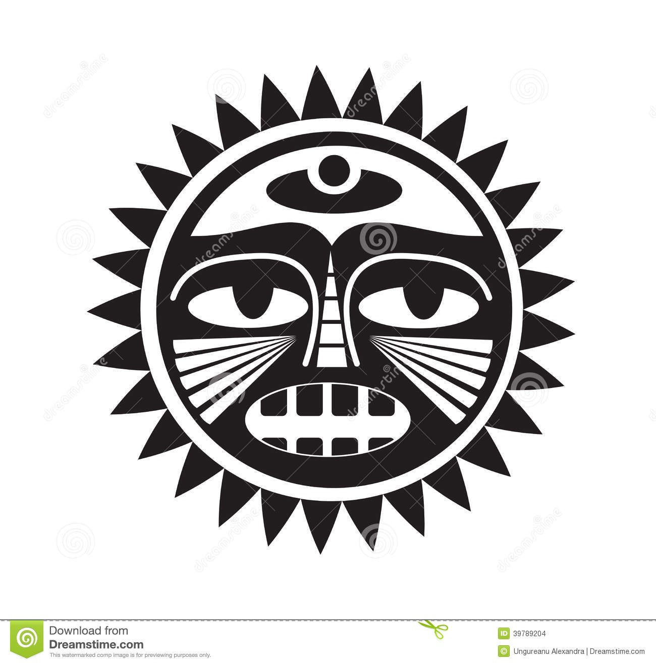 Beautiful Polynesian Style Tattoo Stock Vector