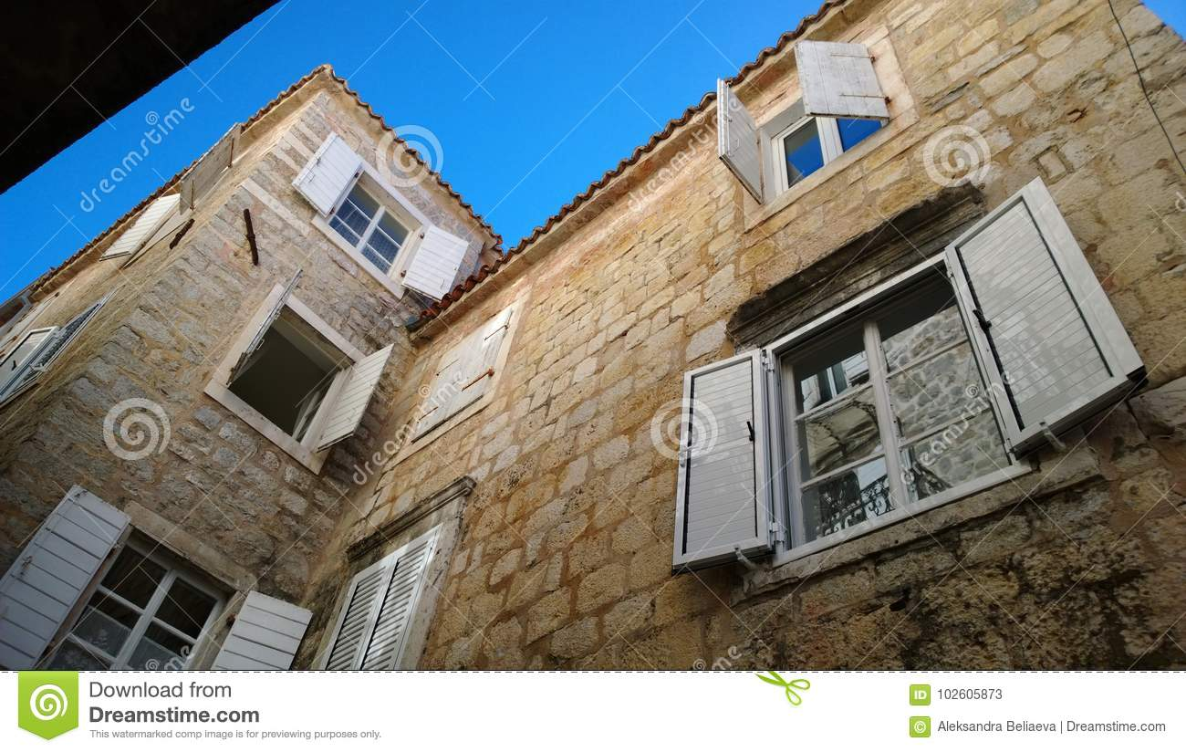 Beautiful Shutters In Budva Montenegro The View From The